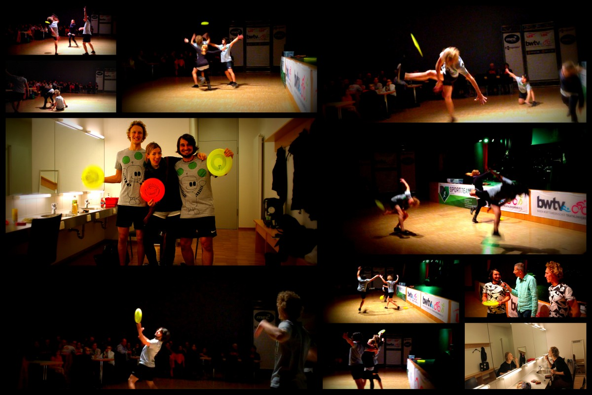 Frisbee Show bei der BWTV Gala 2014
