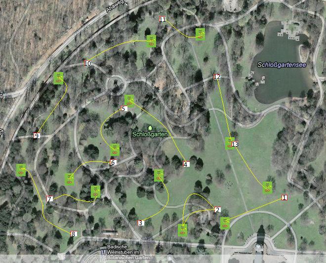 Disc Golf Parkour Schlosspark Karlsruhe